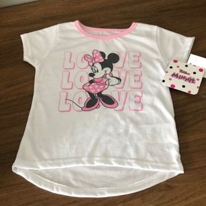 Disney Minnie Mouse toddler child shirt love